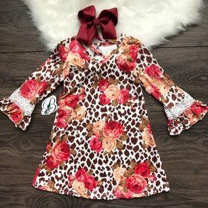 Other - Toddler Girl Boutique Floral Dress Set